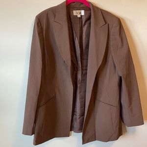 Milk Chocolate brown with cream pinstripes